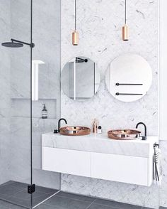 Copper and Marble Bathroom | Emma ♡