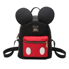 24a4bdc1bd4 Cute Mickey Mouse Style High-Quality Ear Backpack For Girls