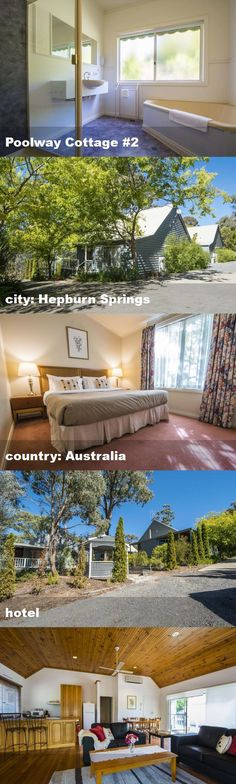 Poolway Cottage #2, city: Hepburn Springs, country: Australia, hotel Australia Hotels, 2nd City, Tour Guide, Cottage, Tours, Mansions, Country, House Styles, Home Decor