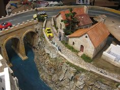 Crazy awesome detail on a slot car table!