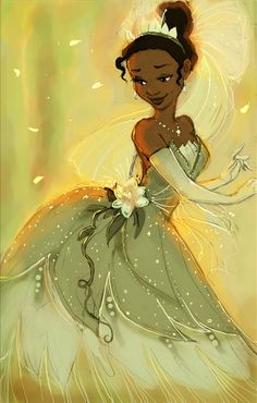 Though I actually don't really like The Princess and the Frog, I have to say that Tiana is definitely one of my favorite Disney princesses. Disney Pixar, Disney Animation, Disney Princess Art, Disney Kunst, Disney Fan Art, Disney And Dreamworks, Disney Characters, Tiana Disney, Princess Gowns