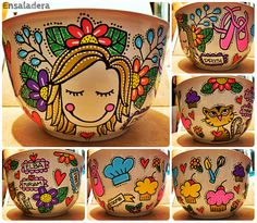 Timestamps DIY night light DIY colorful garland Cool epoxy resin projects Creative and easy crafts Plastic straw reusing ------. Decorated Flower Pots, Painted Flower Pots, Painted Pots, Hand Painted, Diy Arts And Crafts, Diy Craft Projects, Pottery Painting Designs, Clay Pot Crafts, Cool Mugs