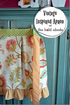 Enter to Win this Handmade Vintage Inspired Apron at The Bold Abode!  Runs through Midnight, Wednesday April 17, 2013