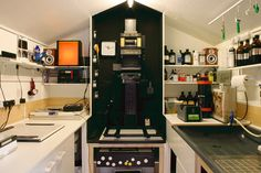 A Personal Darkroom Built Inside a New Backyard Shed - my new dream darkroom, don't really care if it's in a shed, I just love the layout.