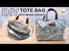 Quilted Tote Bags, Diy Tote Bag, Bag Patterns To Sew, Tote Pattern, Patchwork Quilt, Inside Bag, Fabric Bags, Clutch, Reusable Bags