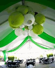 lime green party lanterns