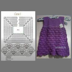 Crochet Vest Pattern, Crochet Fabric, Crochet Stitches Patterns, Baby Knitting Patterns, Crochet Girls, Crochet Baby Clothes, Crochet For Kids, Baby Christening Dress, Robe Diy