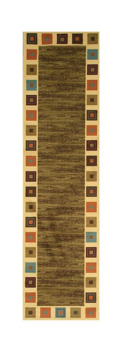 Green Transitional Solid Gabbeh Rug