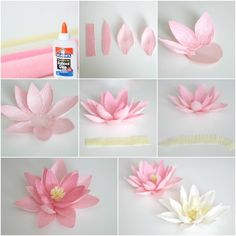 Learn how to make a paper flower – a number of tutorials and examples to fill your concepts – Archzine. Paper Flower Patterns, Paper Flowers Craft, Paper Flower Tutorial, Flower Crafts, Diy Flowers, Fabric Flowers, Flower Ideas, Paper Flowers How To Make, Rose Tutorial