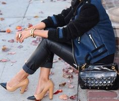 Fashion Friday: Wearing Navy & Black Together - elements of style