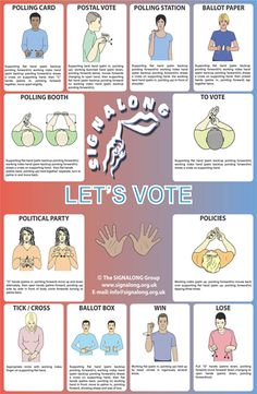 Voting Signs Poster - BSL (British Sign Language)