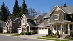 Toll Brothers Unique exterior designs create a varied streetscape.