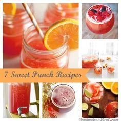 7 Sweet Punch Recipes {DIY Entertaining}