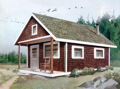 Anyone with basic carpentry skills can construct this classic one-room cozy cabin for about $6,500.