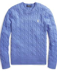 9dae9df2b356a0 Cable-Knit Cotton Sweater - Polo Ralph Lauren Crewneck - RalphLauren.com