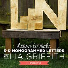 DIY Jumbo Monograms