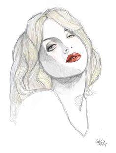 Courtney love portrait illustration