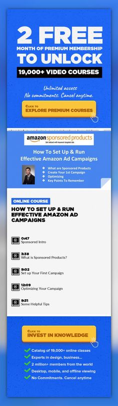 How To Set Up & Run Effective Amazon Ad Campaigns Entrepreneurship, Marketing, Business, Amazon, Ebay, Amazon Fba, Amazon Kindle, Sell Online #onlinecourses #onlinemastersschools #learningathomeclassroom   In this class I'll teach you all about Amazon's pay-per-click ad service, Sponsored Products, and how to run effective ad campaigns for the highest conversion rate and sales. We'll cover how the...