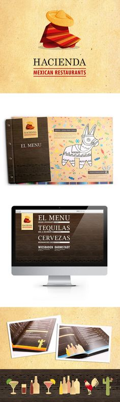 Hacienda – Mexican Restaurants by Christian Jakob, via Behance