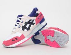 #Asics Gel Lyte III White pink purple #sneakers