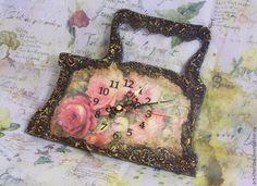 """Купить Часы настенные """"Бабушкин утюг"""" - часы настенные, часы кухонные, часы для дачи"""