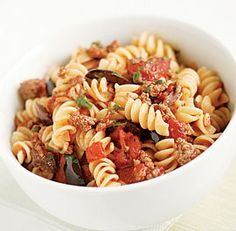 Fusilli with Parsley, Walnut, and Black Olive Pesto | Recipe | Pesto ...