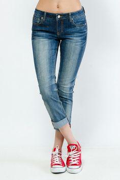 Sandblast Denim Capri Pants $21.99  Perfect jeans+tennis shoes combo!