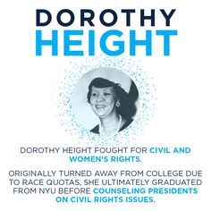 Women like Dorothy Height paved the way for our current women in leadership.