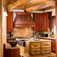 beautiful wood accent #kitchen