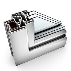 Finestra in PVC/alluminio