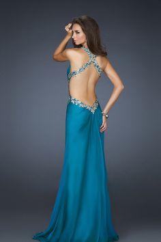 Gorgeous Back Prom Dresses Floor Length V Neck Sheath/Column Chiffon Sleeveless Beading/Sequins