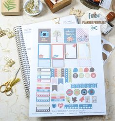 Fall Breezes Planner Stickers | Free printable