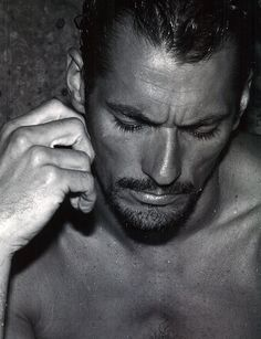 David Gandy is Beachy Vision for Seventh Man Cover Shoot