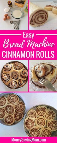 This Cinnamon Roll Recipe is amazingly delicious and practically fail-proof! You can even make the dough in the bread machine! It's SO easy!!
