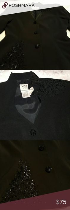 Daymor Couture Party  Jacket This has beaded buttons. Beaded applique on jacket. This is a beautiful jacket. Daymor Couture  Jackets & Coats Blazers