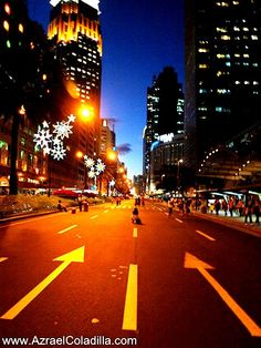 closed road in ayala ave makati city, Philippines