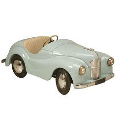 Original Vintage Austin J40 'Joy IV' Roadster Blue Over White Pedal Car #17337   1stdibs.com