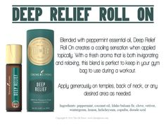 Blended with peppermint essential oil, Deep Relief Roll-On creates a cooling sensation when applied topically.  Go to www.yldist/4preppingwithoils/