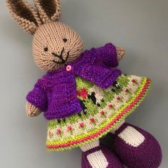 Finished another bunny in a Love Ewe Dress during yesterday's blizzard ❄️...