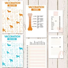 free printable dog vaccination record free printable pet health