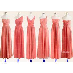 mismatched bridesmaid dresses, cheap bridesmaid dresses, chiffon bridesmaid…