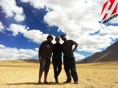 After our tryst under water, we decided to gain a little height. So our team packed off to Ladakh with a first time group and ended up living on land, air and water! Send us your contact details on info@headrush.in and we'll plan a Headrush Expedition for you! — at Leh, Ladakh, India