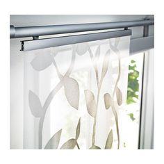 ikea anno sanela beige natural window panel curtain for kvartal system rail nip ikea panel. Black Bedroom Furniture Sets. Home Design Ideas