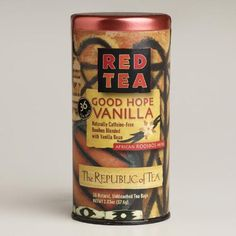 One of my favorite discoveries at WorldMarket.com: The Republic of Tea Good Hope Vanilla Red Tea, 36-Count