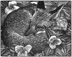 Among Friends, by Nicholas Wilson; Tubac, AZ; 4 x 5 engraving on Resingrave