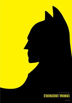 Wicked awesome minimalist illustration of Batman (hint look at it upside-down)