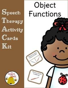 Speech Therapy Activity Cards Kit (STACK): Object Functions120 Object Functions Cards     /    120 Object Functions Task CardsTwo sets of cards:One set asks What do you do with a _____?  One visual is provided.One set asks questions such as What do you use to _____?