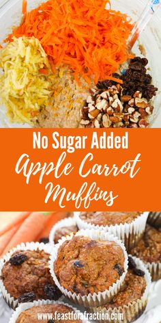 These muffins are sweetened with honey and made with whole wheat so you can feel good about eating t Healthy Muffins, Healthy Sweets, Healthy Baking, Healthy Snacks, Healthy Recipes, Healthy Brunch, Vegan Baking, Morning Glory Muffins, Keto Cupcakes