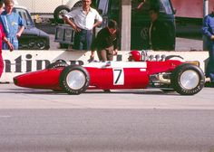 Ernesto Brambilla in a Ferrari Dino 166 car at the 1968 race at the Hockenheimring Ferrari, Gilles Villeneuve, F 1, Race Cars, Cool Photos, Vehicles, Auto Racing, Competition, Wheels