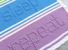 Eat Play Sleep Repeat Baby Blanket Crochet PATTERN by bearsy43